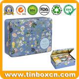 Stagni impaccanti del tè del metallo di rettangolo del contenitore di regalo del carrello di tè