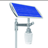 Réverbère 12W solaire lumineux élevé dans la lumière solaire de jardin