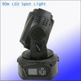 디스코 90W LED 단계 반점 이동하는 맨 위 빛