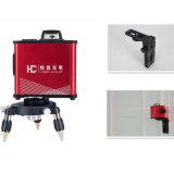5 линий красный роторный уровень лазера с кронштейном держателя стены