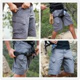 Graue Multi-Taschen, die Mens-Breathable schnelle trocknende taktische kurze Hosen jagen