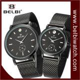 Belbiはビジネス黒い腕時計のカスタム水晶ギフトの腕時計をつなぐ