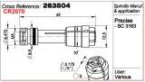 Anello dell'asse di rotazione dell'acciaio inossidabile 263504 della macchina del PWB