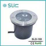 IP67は3W LEDの屋外の地上の庭ライトを防水する