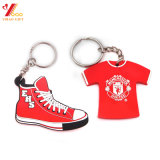 Trousseau de clés de PVC de logo de Customed, porte-clés de PVC pour le cadeau de promotion