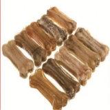 La marca de fábrica 6 '' 90-100g de Petmate presionó la alimentación del perro del hueso del cuero crudo