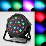la PARITÀ sottile di 8PCS 18X3w il LED PAR64 54W può partito che piano del proiettore di luce di colore di RGB dell'indicatore luminoso di PARITÀ di DMX IL DJ si illumina