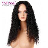 100% Humano pelucas de pelo largo rizado peluca delantera de encaje peluca de cabello de las mujeres