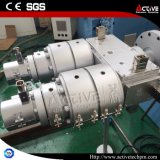 Ligne jumelle d'extrusion de vis pour le profil de PVC Pipe/PVC