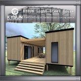 Casa pré-fabricada personalizada da instalação do recipiente de 2 assoalhos rapidamente para dormitórios