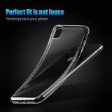 Encajonar para el claro transparente delgado del silicio X de la cubierta más del teléfono del iPhone 8 8 ultra delgadamente
