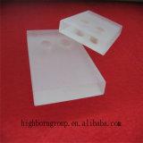 Hoja helada del vidrio de cuarzo con temperatura alta