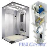 Elevador do elevador do passageiro de FUJI com a cabine e as portas do aço inoxidável da linha fina
