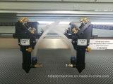Gewebe-Plüsch spielt Laser-Ausschnitt-Maschine mit doppeltem Kopf