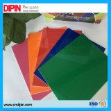 Гравировка с ЧПУ и два боковых разреза цветной лист