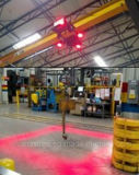 Almacén de LED de luz de seguridad de la zona roja Grúa luces LED