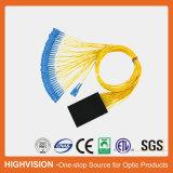 divisor óptico del PLC del ABS-Rectángulo de fibra 2X32