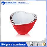 Cuvette bicolore de mélamine de potage de vaisselle de logo fait sur commande durable d'utilisation