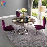 中国Hlyの家具の食堂の円形のステンレス鋼のダイニングテーブルHly-St14