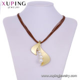 Stones와 Beads Necklace를 가진 목걸이 00625 Xuping Fashion Rhodium Color