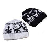 メンズレディース男女兼用の帽子の印刷によって編まれる冬の暖かい帽子の厚い帽子(HW413)
