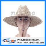 Tapete de moda no Verão de palha de capim Hat com quebra de vento