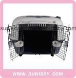 Hot Sale plastique transporteur Pet populaires chien de la maison de luxe de la cage de chien