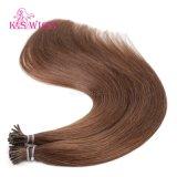 K.Sのかつらカラー#8バージンのRemyの人間の毛髪の拡張私は毛をひっくり返す
