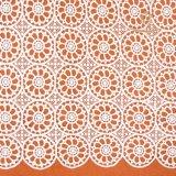 Tessuto svizzero del merletto della guipure del cotone di stile africano o nigeriano del reticolo di fiore