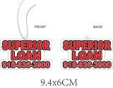 Auto-Firmenzeichen-Luft-Erfrischungsmittel-Doppeltes versah für fördernde Felder mit Seiten (YB-f-002)
