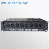 8 Signaal Ditributor 8 DMX512 uit Haven DMX van de Havens DMX512 van de Versterker van het Signaal van kanalen DMX512 het Multi