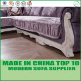 Modernos muebles Furshing Graved esquina Chesterfield sofás de tela