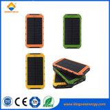 2017 Outdoor 8000mAh solaire Chargeur Mobile Banque d'alimentation USB