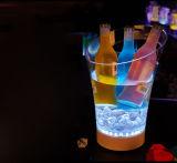 Ведро льда таможни СИД акриловое цветастое
