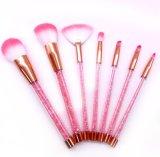 rosafarbener Verfassungs-Pinsel der Eigenmarken-7PCS mit Plastikgriff