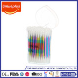 Heart Box Plastic Stick Double Head Cotton Swabs Tipped Applicators Cotton Buds Makeup Tools