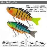 Pr-Ls055/056 a personnalisé l'attrait en plastique de coulage de pêche de vairon dur
