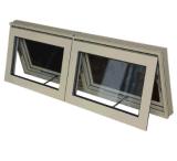 Ventana doble side-by-side del toldo del aluminio con la pantalla de aluminio
