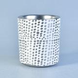 Silberner metallischer gekopierter keramischer Kerze-Behälter