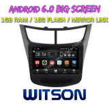 "Witson grande ecrã de 9"" com sistema Android 6.0 aluguer de DVD para Chevrolet Novo Sail (ALTA) 2015"