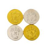 Kundenspezifisches grosses Größen-Karten-Silber überzogene Gedenkmünzen