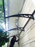 Chuva Sun ornamentais Overdoor sombra e marquise de debulhar Alumínio retrátil