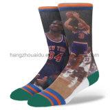 200n Estrellas NBA Fancy Patten vestir calcetines deportivos para hombres