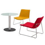 옥외 여가 가구 커피용 탁자를 가진 스테인리스 프레임 다방 의자