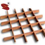 Plafond en aluminium de cellules de réseau de panneau de Decoractive des graines en bois