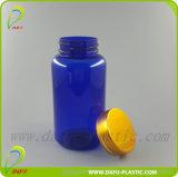 medizinische Plastikflasche des Haustier-180ml mit goldener Schutzkappe