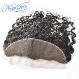 100%の実質のバージンの人間の毛髪の卸売の中国の自然な波13X4のFrontal