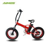 20 pulgadas 250W neumático Fat bicicleta eléctrica plegable con acelerador de torsión