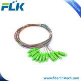 다중 Pigtail FTTH/FTTX 12 Colors Sc/LC/APC/Upc Cable Fiber Optical 또는 Optic