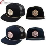 Painel 5 Caminhoneiro Hat com patch de rótulo tecidos personalizados